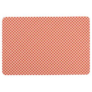 Red vintage gingham floor mat