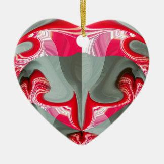 Red Vintage Hakuna Matata round gifts.jpg Ceramic Heart Decoration