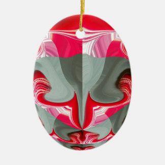 Red Vintage Hakuna Matata round gifts.jpg Ceramic Oval Decoration