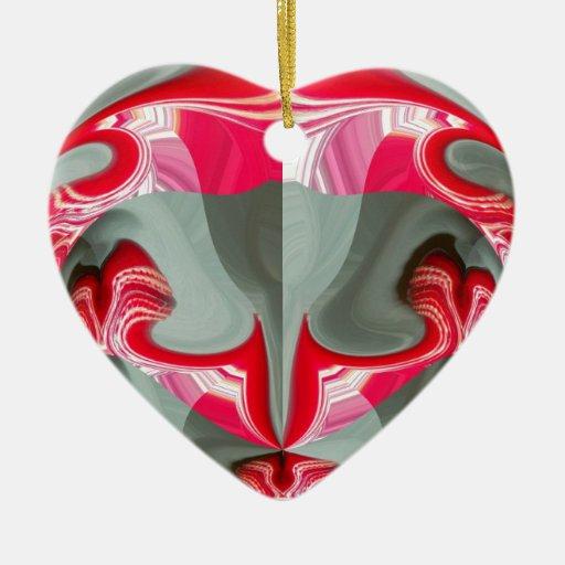 Red Vintage Hakuna Matata round gifts.jpg Christmas Ornament