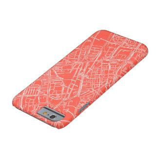 Red Vintage Street Map Phone Case