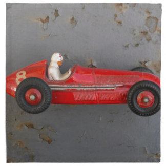 Red vintage toy car napkin