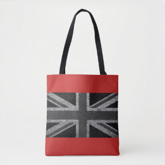 Red Vintage Union Jack Flag Tote Bag