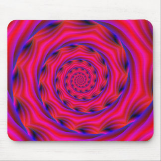 Red Violet and Blue Spiral Mousepads