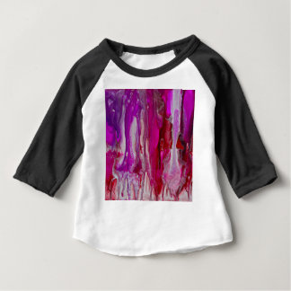 Red Violet and Silver Flow Baby T-Shirt