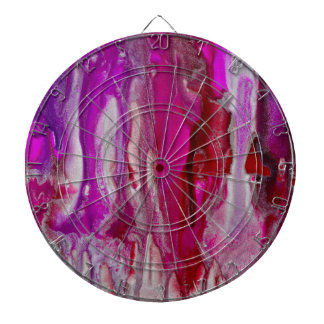 Red Violet and Silver Flow Dartboard