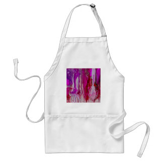 Red Violet and Silver Flow Standard Apron
