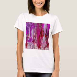Red Violet and Silver Flow T-Shirt