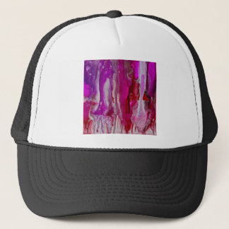 Red Violet and Silver Flow Trucker Hat