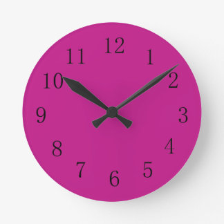 Red Violet Kitchen Wall Clock