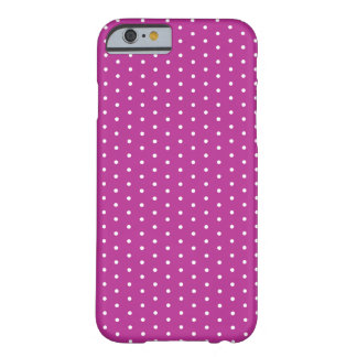 Red Violet Polka Dot iPhone 6 Barely There iPhone 6 Case