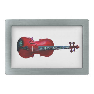 RED VIOLIN-BELT BUCKLE RECTANGULAR BELT BUCKLES