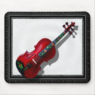 RED VIOLIN -MOUSEPAD-IN BLACK FRAME MOUSE PAD