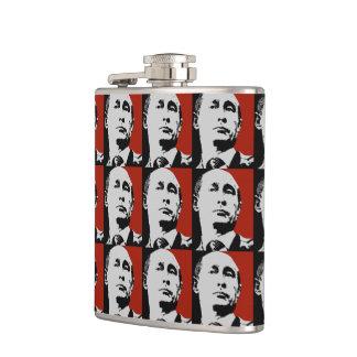 Red Vladimir Putin Hip Flask