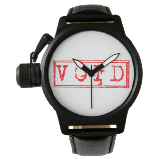 Red Void Typography Word Not Legally Binding Wrist Watch
