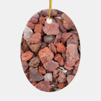 Red Volcanic Rocks Ground Cover Ceramic Ornament