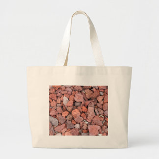 Red Volcanic Rocks Ground Cover Large Tote Bag