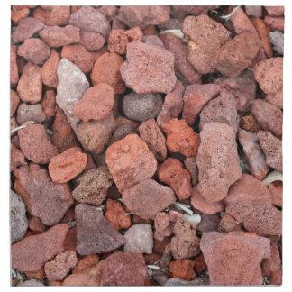 Red Volcanic Rocks Ground Cover Napkin