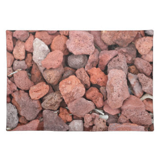 Red Volcanic Rocks Ground Cover Placemat