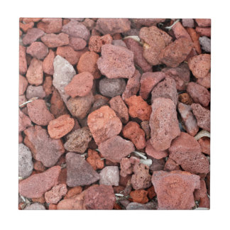 Red Volcanic Rocks Ground Cover Small Square Tile