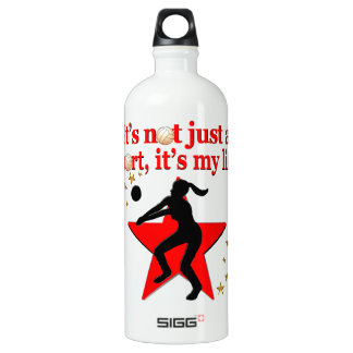 RED VOLLEYBALL IS MY LIFE DESIGN SIGG TRAVELLER 1.0L WATER BOTTLE