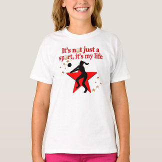 RED VOLLEYBALL IS MY LIFE DESIGN TEES