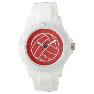 Red Volleyball Watch