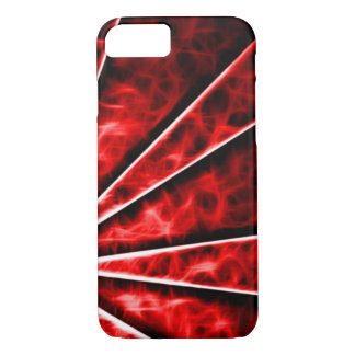 Red Vortex Fractal iPhone 7 Case