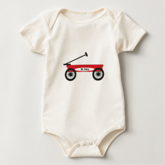 Red Wagon Baby Bodysuit