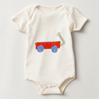 Red Wagon Baby Bodysuit