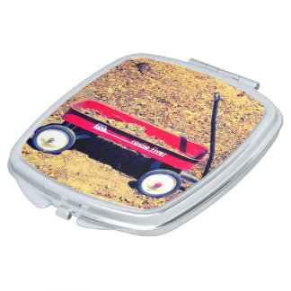 Red Wagon Compact Mirror