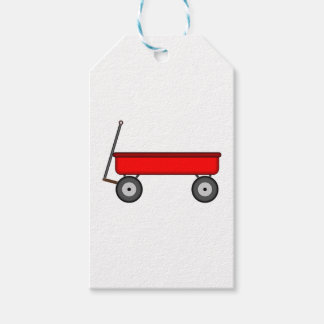 Red Wagon Drawing Gift Tags