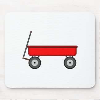Red Wagon Drawing Mouse Pad
