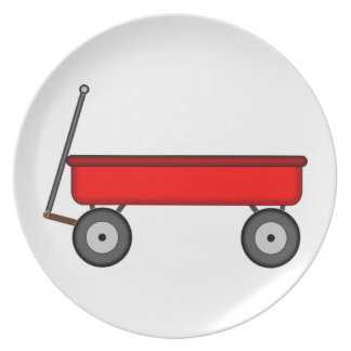 Red Wagon Drawing Plate
