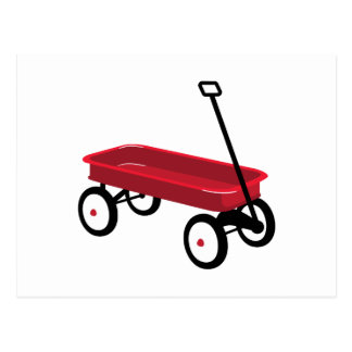 Red Wagon Postcard