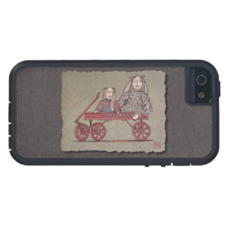 Red Wagon, Rabbit & Dolls iPhone 5 Cover