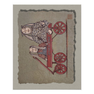 Red Wagon Rabbit Dolls Posters