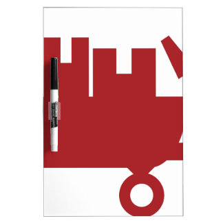 Red Wagon Shipping Boxes Icon Dry Erase Whiteboards