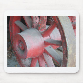 Red Wagon Wheel Mouse Pad