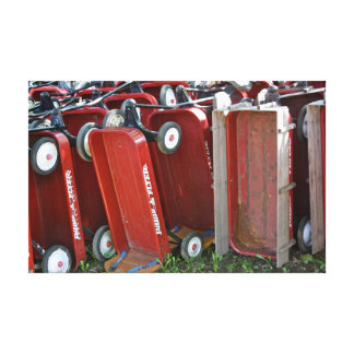 Red Wagons Stretched Canvas Prints