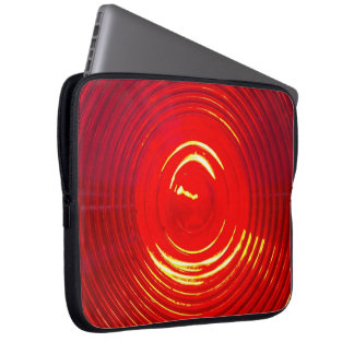 Red Warning Light Computer Sleeve