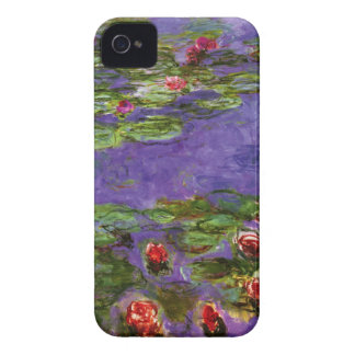 Red Water Lilies Claude Monet Fine Art iPhone 4 Cases