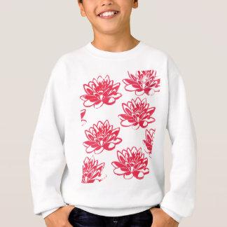 Red water lilies sweatshirt