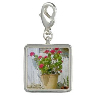 Red watercolor geranium
