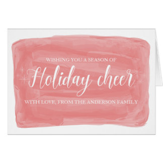 Red Watercolor Holiday Cheer Card
