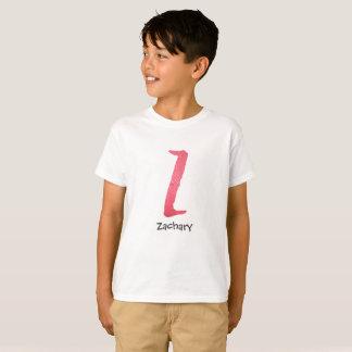 Red watercolor letter Z - custom name T-Shirt
