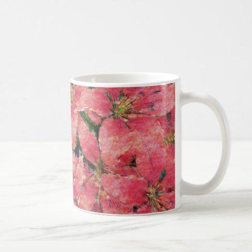 Red Watercolor Lilies Mug