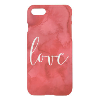 Red Watercolor Love iPhone 7 Case