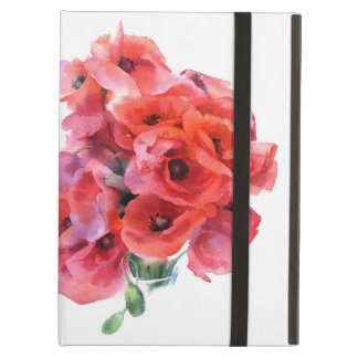 Red watercolor poppies iPad Air Case