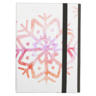 Red Watercolor Snowflakes iPad Air Cover